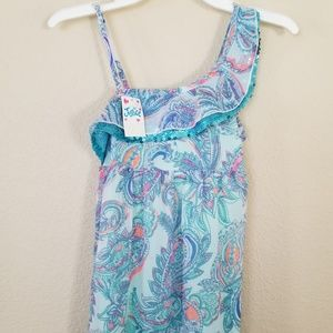 Justice Maxi Dress Sparkly Girls Size 7 New